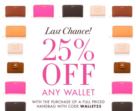 25% OFF ANY WALLET