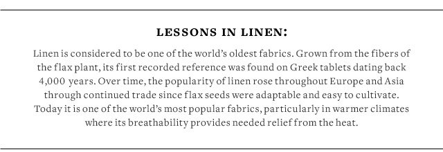LESSONS IN LINEN