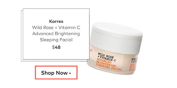 Korres Wild Rose + Vitamin C Advanced Brightening Sleeping Facial, $48