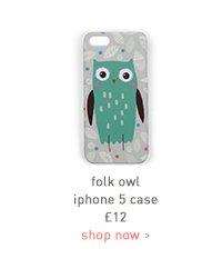 folk owl iphone 5 case