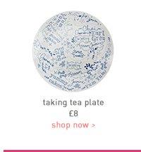 taking tea plate