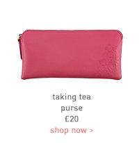 taking tea purse