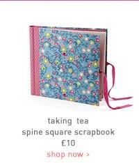 taking tea spine square scrapbook