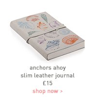 anchors ahoy slim leather journal