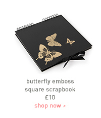 butterfly emboss square scrapbook