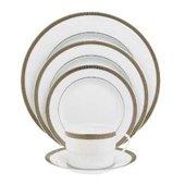 Malmaison Rimmed soup plate, Platinum