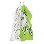 Kevätjuhla tea towel 2 pcs.,Lime/White/Black/White