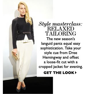 RELAXED TAILORING. SHOP NOW