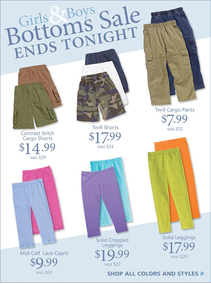 Bottoms Sale Ends Tonight