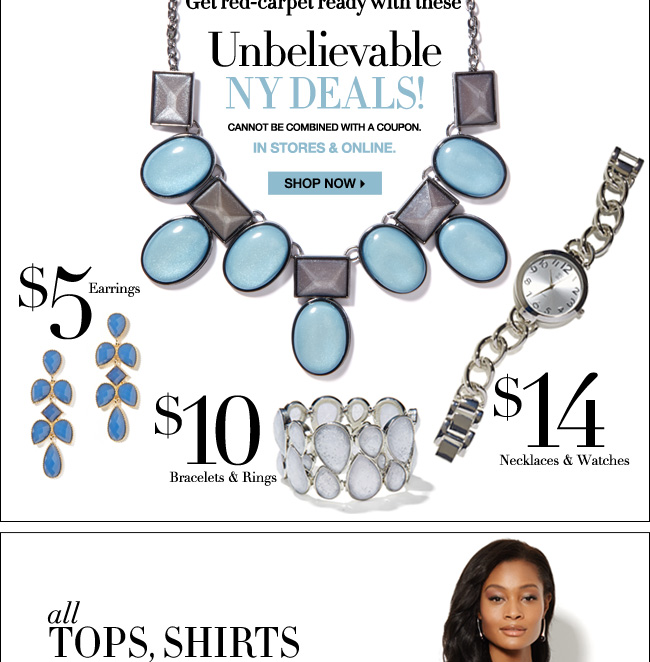 Unbelievable NY Deals - Jewelry $5 & Up!