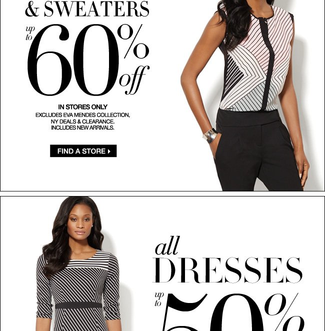 All Tops & Sweaters Up to 60% Off + Up to 50% Off Dresses