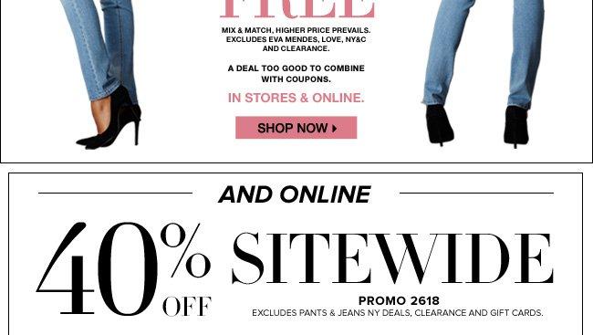 40% Off Online!
