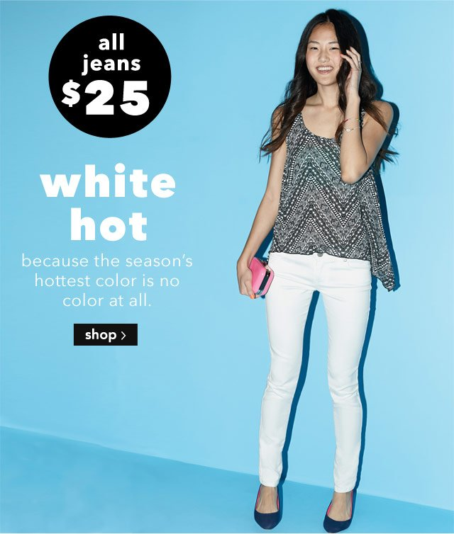white denim BUY ONE GET ONE 50% OFF