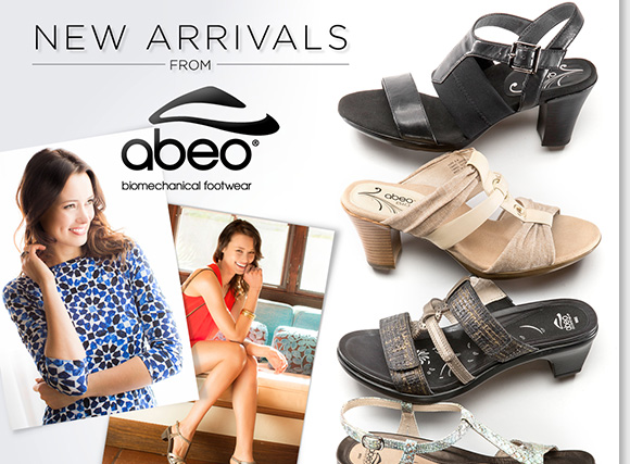 Shop stylish NEW ABEO B.I.O.system sandal arrivals featuring the 'invisible comfort' of built-in orthotics. Plus, enjoy a FREE Digital Foot Analysis at any of our 200+ nationwide stores to experience the perfect fit of ABEO shoes and save 40% on customized 3D3 orthotics with any ABEO shoe purchase!* Shop now online and in stores at The Walking Company.
