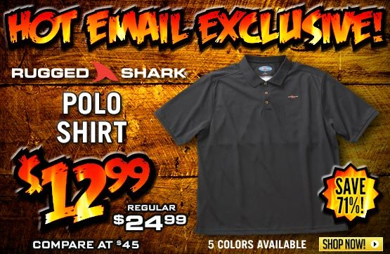 Rugged Shark® Tiger Shark Polo