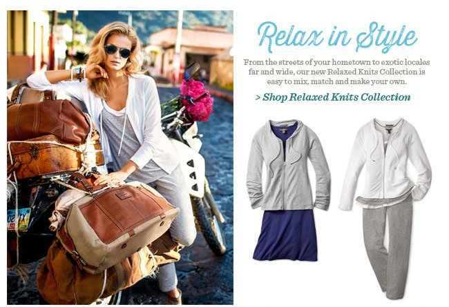 Shop Relaxed Knits Collection