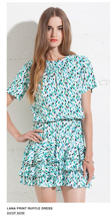 Lana Print Ruffle Dress - Shop Now