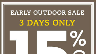 Early outdoor sale