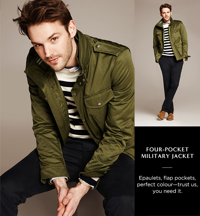 FOUR-POCKET MILITARY JACKET | Epaulets, flap pockets, perfect colour - trust us, you need it.