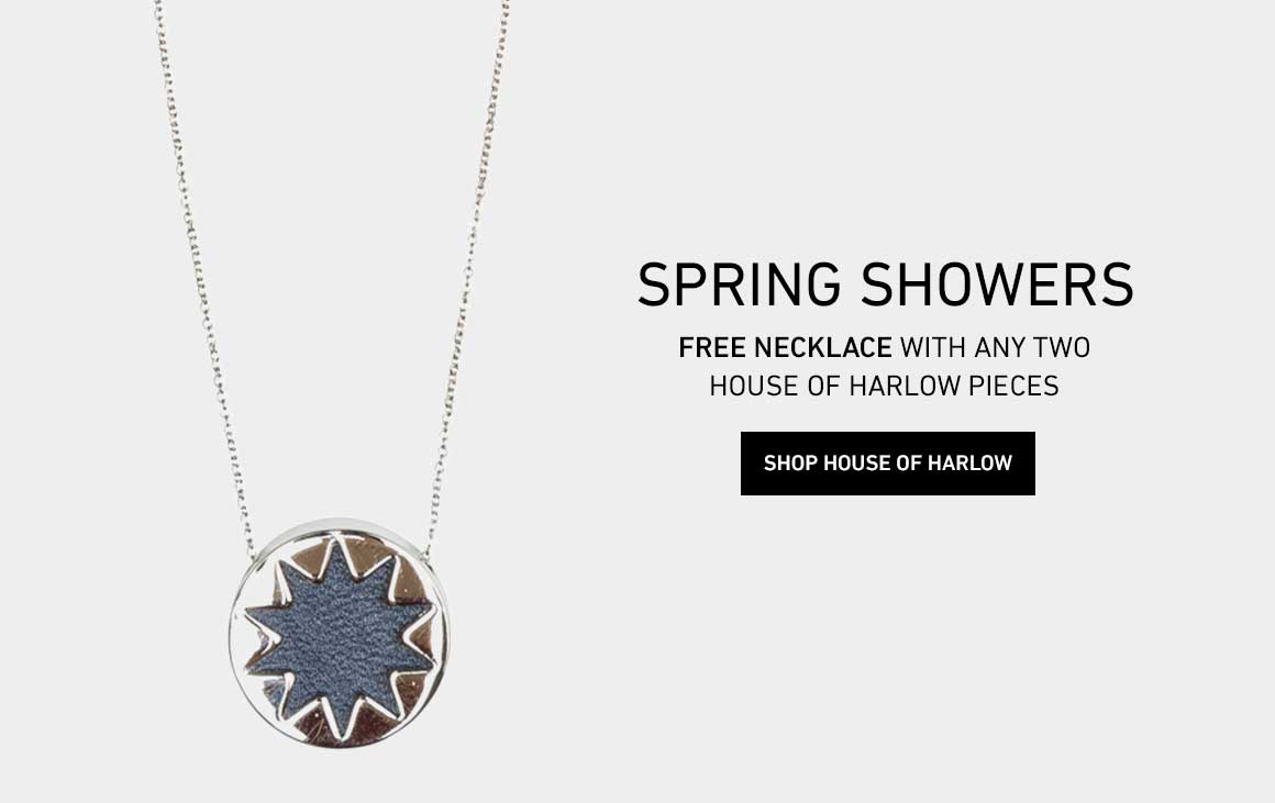 Free Necklace with the Purchase of Any 2 House of Harlow Pieces