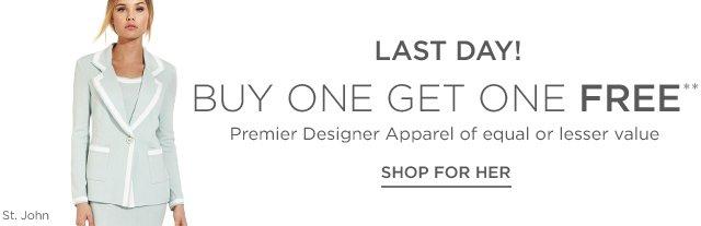 Buy 1 Get 1 Free Premier Designer Apparel