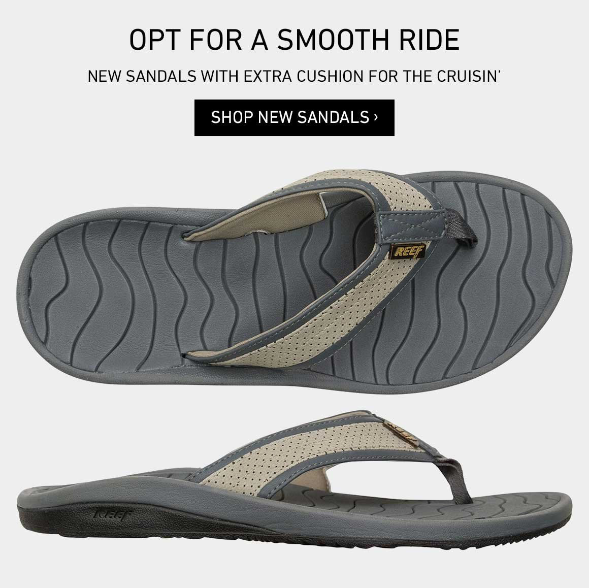 Smooth Rides: New Sandals
