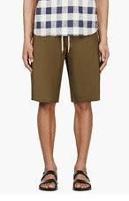 MSGM Olive Green Minimalist shorts for men
