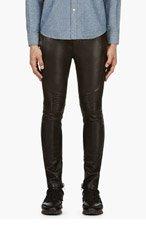 BALMAIN Black Lambskin Lounge Pants for men