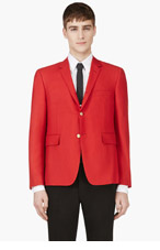THOM BROWNE Red Laced-back Blazer for men