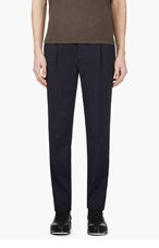 VALENTINO NAVY CROPPED classic TROUSERS for men