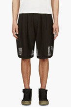 KTZ Black Pleated Balloon shorts for men