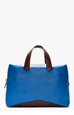 PAUL SMITH Blue Leather V-Base Folio Breifcase for men