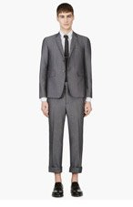 THOM BROWNE Grey Basic Body Suit for men