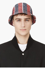 THOM BROWNE SSENSE EXCLUSIVE Red & Navy Anchor Tilley Hat for men