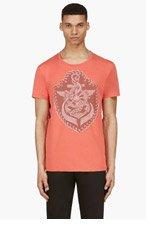 BALMAIN Red Anchor Print T-Shirt for men