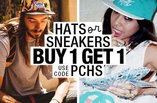 Pick & Choose: Hats OR Sneakers BOGO