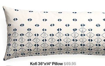 Kofi 36 in x 14 in Pillow