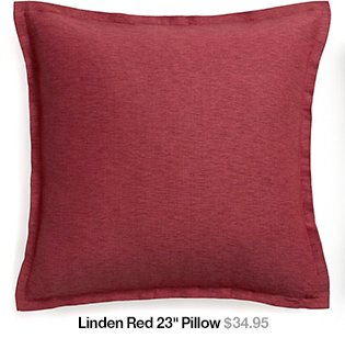 Linden Red 23 in Pillow
