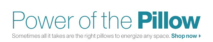 Power of the Pillow. Shop now