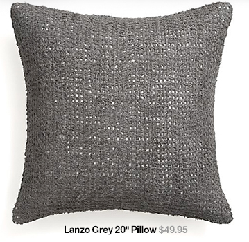 Lanzo Grey 20 in Pillow