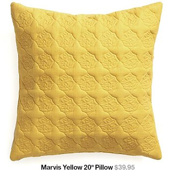 Marvis Yellow 20 in Pillow