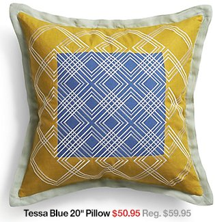 Tessa Blue 20 in Pillow
