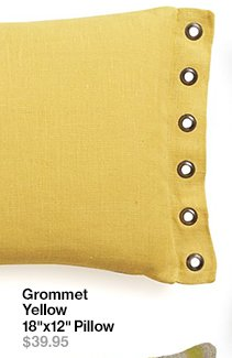 Grommet Yellow 18 in x 12 in Pillow