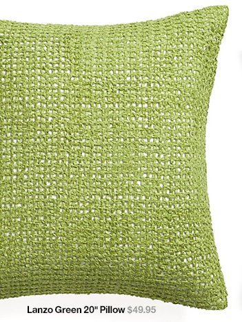 Lanzo Green 20 in Pillow