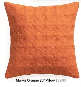 Marvis Orange 20 in Pillow