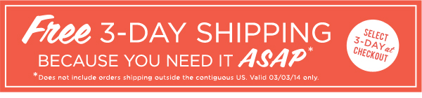 Free 3-Day Shipping