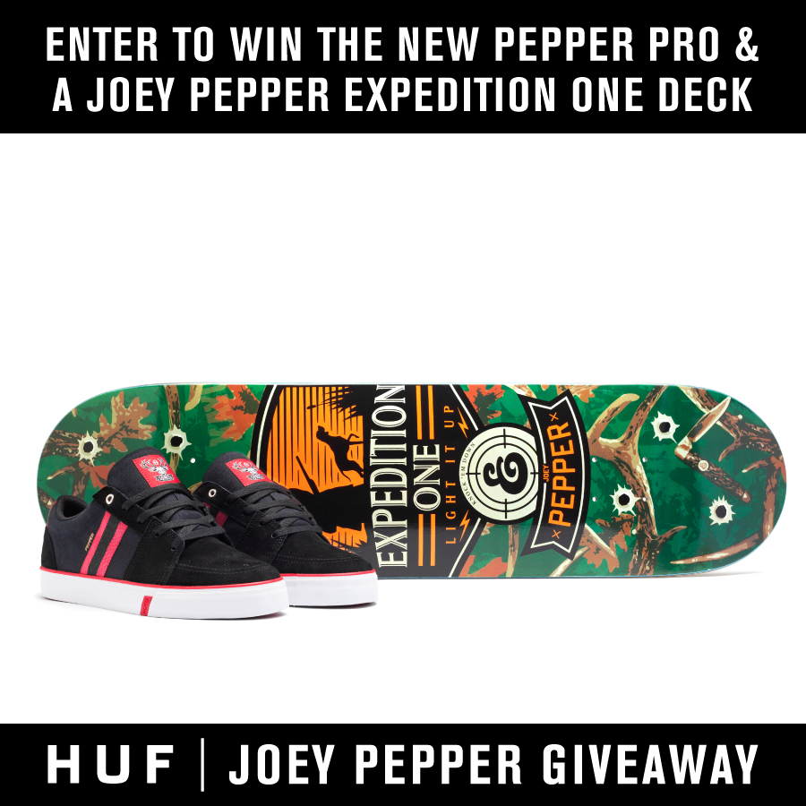 HUF GIVEAWAY // WIN A JOEY PEPPER PRIZE PACK