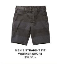 Men's Straight Fit Worker Short $39.50