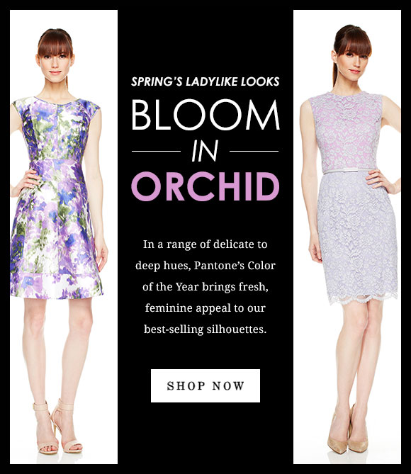 Spring's Ladylike Looks Bloom in Orchid