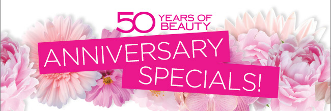 50 years of beauty anniversary specials!